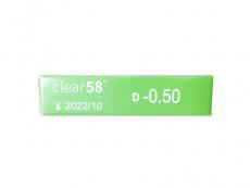 Clear58 (6 φακοί)