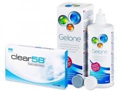 Clear58 (6 φακοί) + ΥγρόGelone360ml