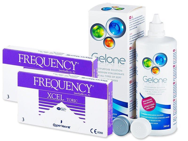 FREQUENCY XCEL TORIC (2x3 φακοί) + ΥγρόGelone360ml