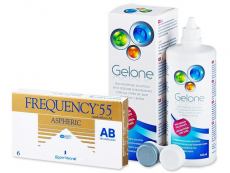 Frequency 55 Aspheric (6 φακοί) + Υγρό Gelone 360 ml