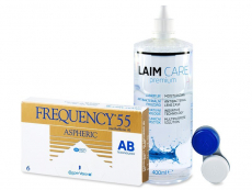 Frequency 55 Aspheric (6 φακοί) + Υγρό Laim-Care 400ml