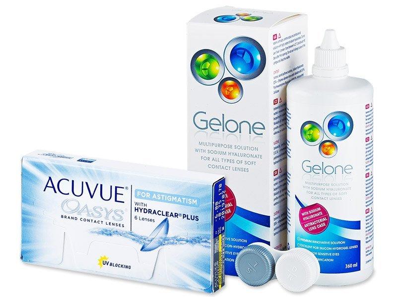 Acuvue Oasys for Astigmatism (6 φακοί) + ΥγρόGelone360ml