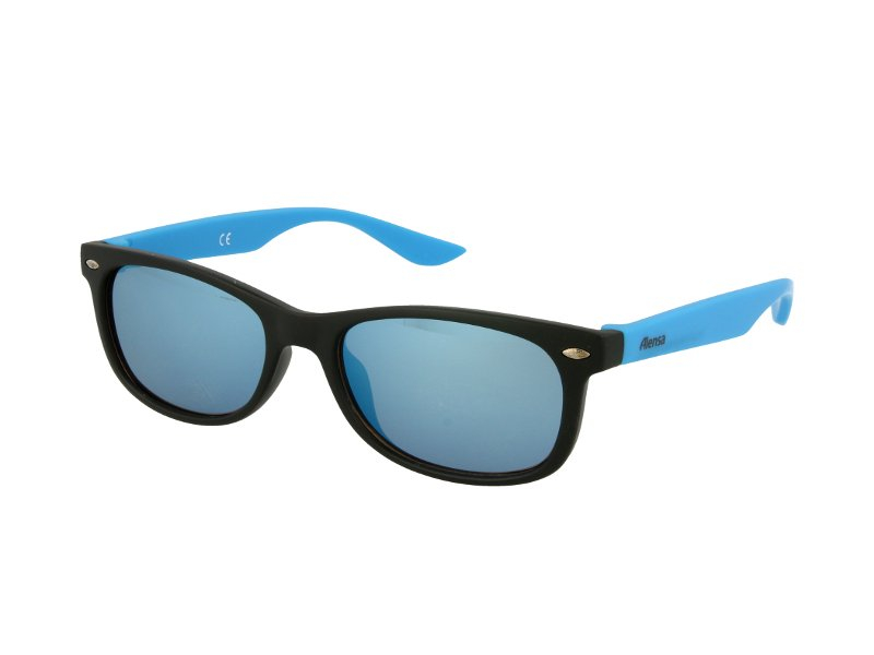 Kids sunglasses Alensa Sport Black Blue Mirror