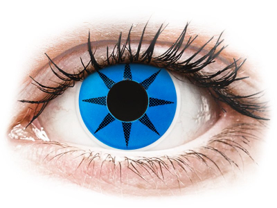 ColourVUE Crazy Lens - Blue Star - Μη διοπτρικοί Ετήσιοι φακ...