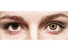 ColourVUE Crazy Lens - Orange Werewolf - Μη διοπτρικοί (2 φακοί)