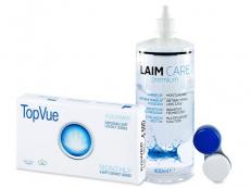 TopVue Monthly (6φακοί) + Υγρό Laim-Care 400 ml
