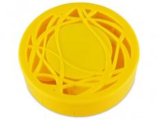 Θήκη φακών με καθρέπτη (κίτρινη)