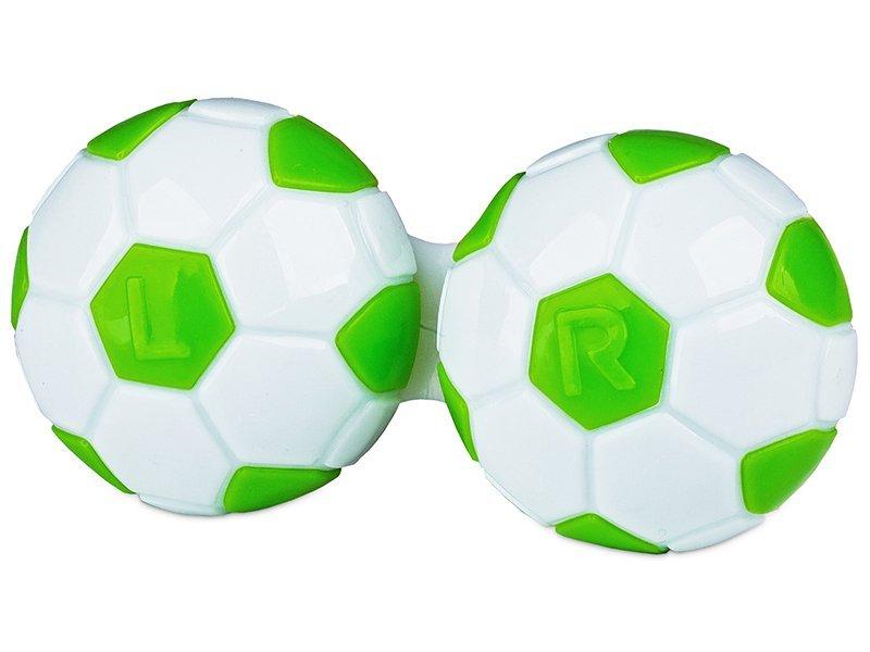 Θήκη φακών επαφής (Μπάλα ποδοσφαίρου πράσινη)