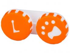 Θήκη φακών επαφής (Πορτοκαλί Dog)