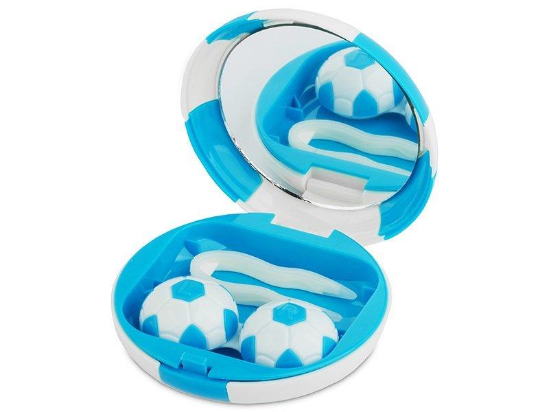 Θήκη φακών με καθρέπτη (μπλε μπάλα)