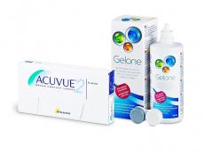 Acuvue 2 (6 φακοί) + Υγρό Gelone 360 ml