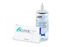 Acuvue 2 (6 φακοί) + Υγρό Laim-Care 400 ml