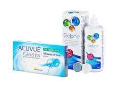 Acuvue Oasys for Presbyopia (6 φακοί) + Υγρό Gelone 360 ml