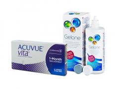 Acuvue Vita (6 φακοί) + Υγρό Gelone 360 ml