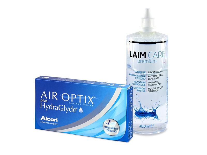 Air Optix plus HydraGlyde (6 φακοί) + Υγρό Laim-Care 400 ml