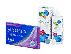 Air Optix plus HydraGlyde Multifocal (6 φακοί) + Υγρό Gelone 360 ml