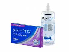 Air Optix plus HydraGlyde Multifocal (6 φακοί) + Υγρό Laim-Care 400 ml
