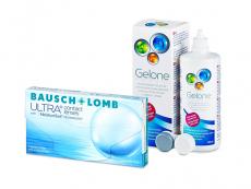 Bausch + Lomb ULTRA (3 φακοί) + Υγρό Gelone 360 ml