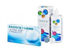 Bausch + Lomb ULTRA (6 φακοί) + Υγρό Gelone 360 ml