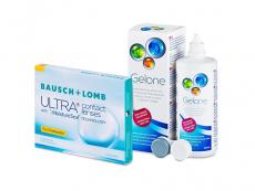 Bausch + Lomb ULTRA for Presbyopia (3 φακοί) + Υγρό Gelone 360 ml
