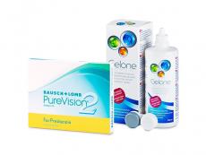 PureVision 2 for Presbyopia (3 φακοί) + Υγρό Gelone 360 ml