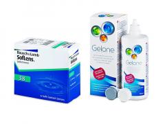 SofLens 38 (6 φακοί) + Υγρό Gelone 360 ml