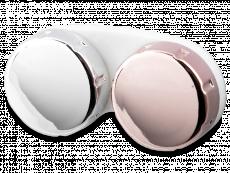 Θήκη φακών επαφής με φινίρισμα καθρέφτη - ροζ / ασημί