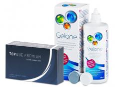 TopVue Premium (12 φακοί) + Υγρό Gelone 360 ml
