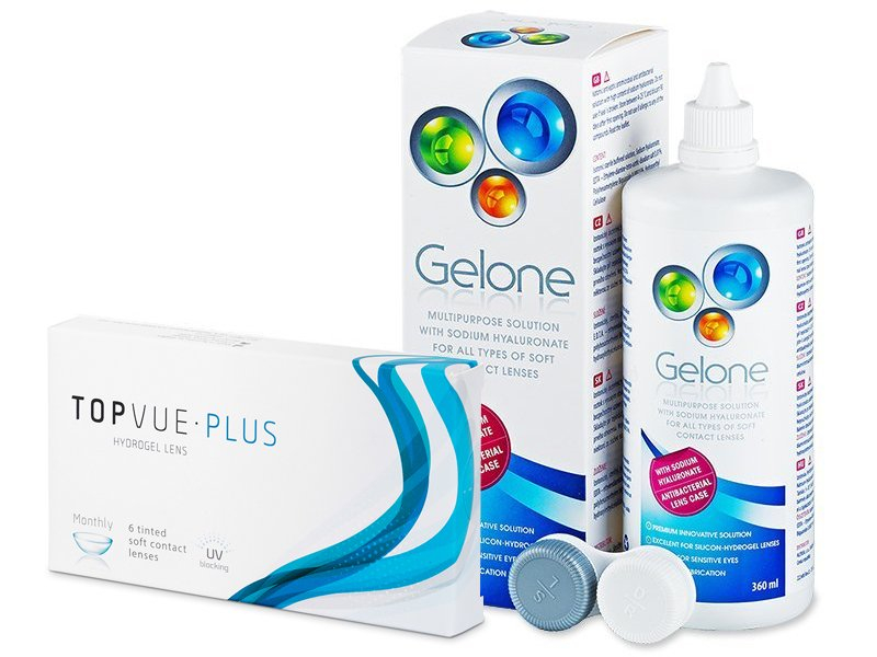 TopVue Monthly PLUS (6 φακοί) + Gelone Solution 360 ml