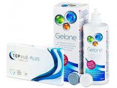 TopVue Monthly PLUS (6 φακοί) +GeloneSolution360ml