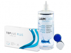 TopVue Monthly PLUS (6 φακοί) + Υγρό LAIM-CARE 400 ml