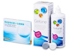 Bausch + Lomb ULTRA for Astigmatism(3 φακοί) + Υγρό Gelone 360 ml