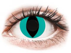 CRAZY LENS - Cat Eye Aqua - Ημερήσιοι φακοί Μη διοπτρικοί (2 φακοί)