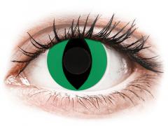CRAZY LENS - Cat Eye Green - Ημερήσιοι φακοί Μη διοπτρικοί (2 φακοί)