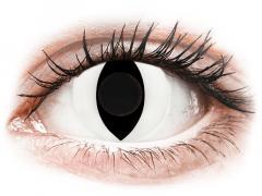 CRAZY LENS - Cat Eye White - Ημερήσιοι φακοί Μη διοπτρικοί (2 φακοί)