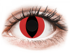 CRAZY LENS - Cat Eye Red - Ημερήσιοι φακοί Μη διοπτρικοί (2 φακοί)