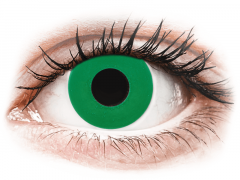 CRAZY LENS - Emerald Green - Ημερήσιοι φακοί Μη διοπτρικοί (2 φακοί)