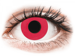 CRAZY LENS - Solid Red - Ημερήσιοι φακοί Μη διοπτρικοί (2 φακοί)