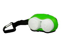 Θήκη φακών επαφής με καραμπίνερ - πράσινη