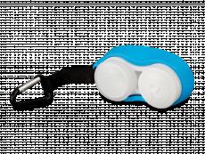 Θήκη φακών επαφής με καραμπίνερ  - μπλε