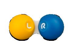 Θήκη φακών επαφής - Κίτρινη & μπλε