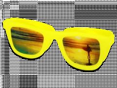 OptiShades θήκη φακών επαφής - κίτρινη