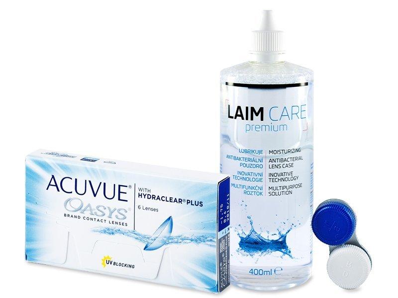 Acuvue Oasys (6 φακοί) + Υγρό Laim-Care 400 ml