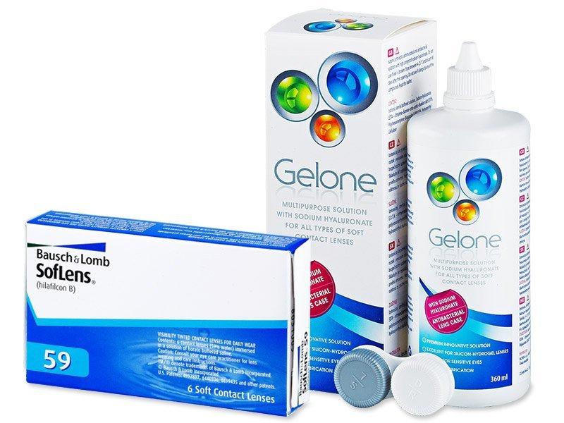 SofLens 59 (6 φακοί) + ΥγρόGelone360ml