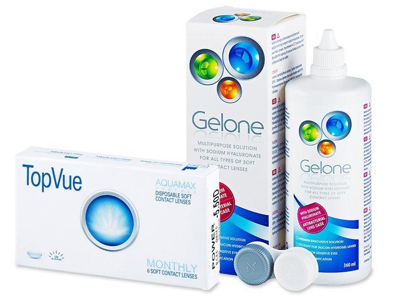 TopVue Monthly (6 φακοί) + ΥγρόGelone360ml
